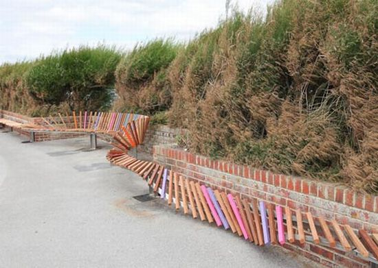 britains longest bench by studio weave 3