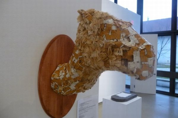 camel head made from cigarette butts