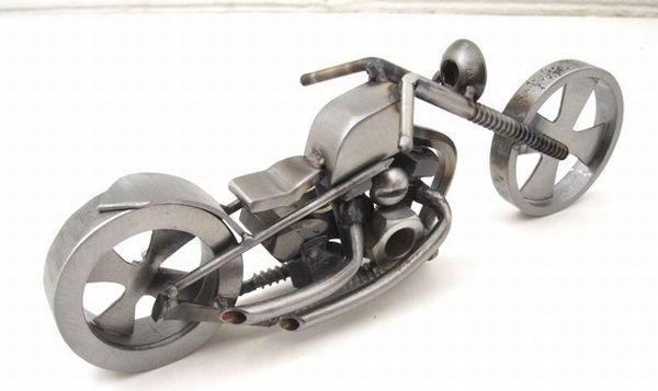 chopper sculpture from recycled steel 5