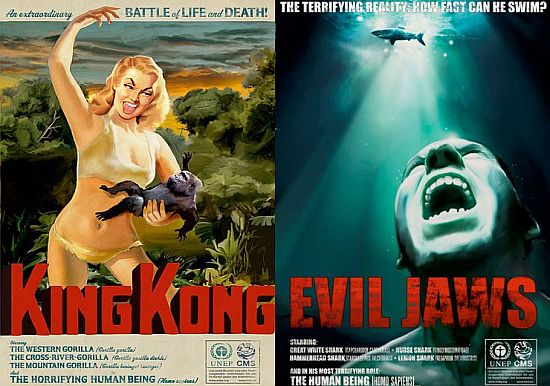classic movies posters symbolize human cruelty