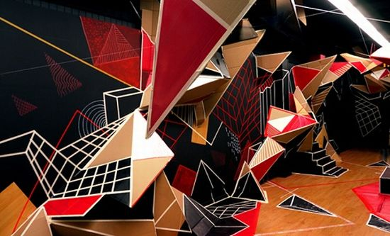 clemens behr recycled cardboard origami art 5