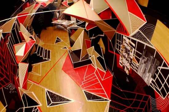 clemens behr recycled cardboard origami art 6