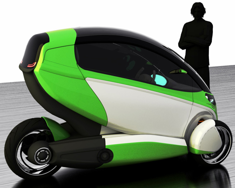 e true ev concept gets going on three wheels 5