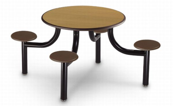 eco friendly fixed seating cafeteria table 4