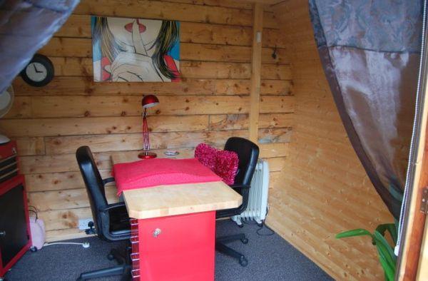 Eco shed turned nail salon 3