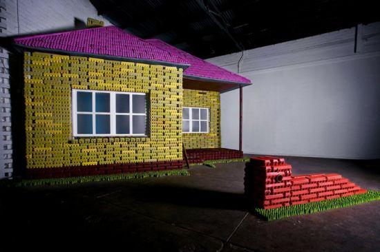 egg carton house 1