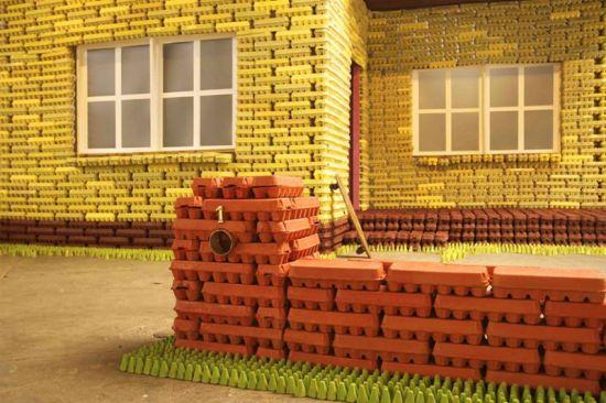 egg carton house 3