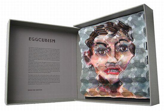 eggcubism recycled egg carton art 11