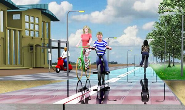 Energy-Generating SolaRoad Bike Path