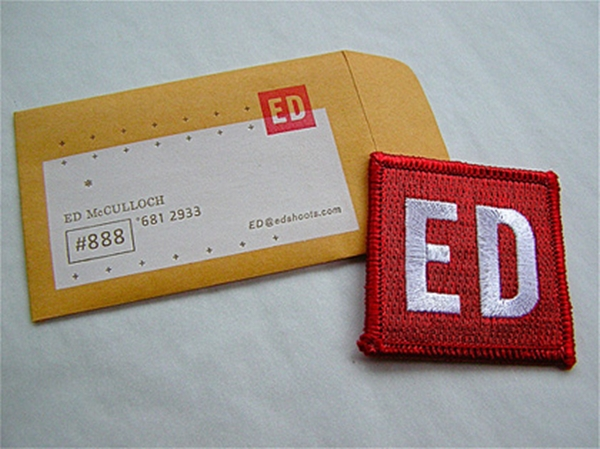 Envelope business card