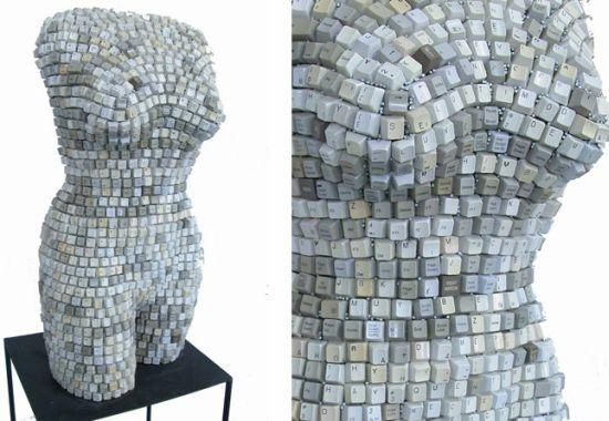 female torsos recycled material 11