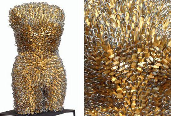 female torsos recycled material 13