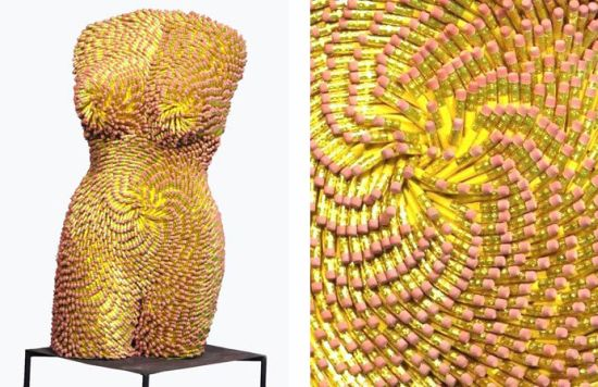 female torsos recycled material 8