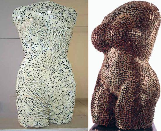female torsos recycled material 9