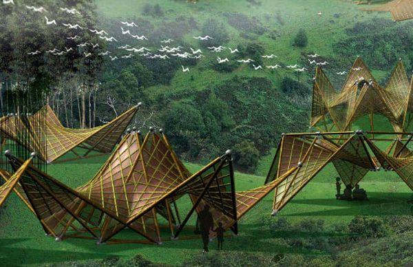 Folding Bamboo House