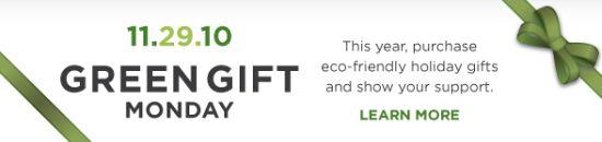 green gift monday badge