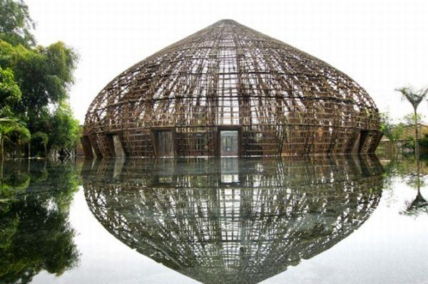 Green homes made using bamboo