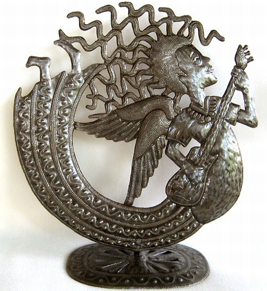 haiti sculpture from steel drums1