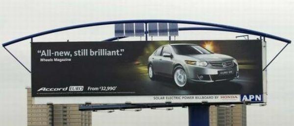 Honda solar-powered hybrid billboards