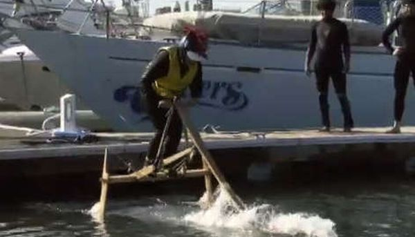 Human powered wooden Hydrofoil