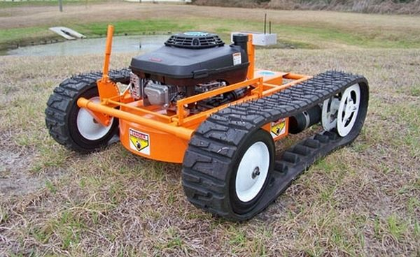 Hybrid-Powered Remote Control Lawnmower