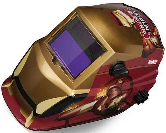 iron man inspired solar powered welding helmet