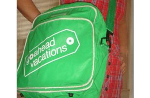 Jessbobess's Vintage reusable green messenger bag