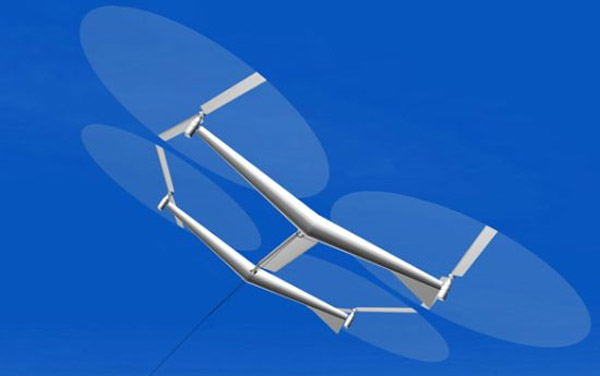 Kite wind turbine