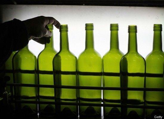 Lamps from Wine Bottle