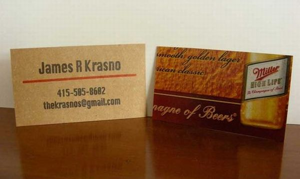 Letterpress mini calling business card