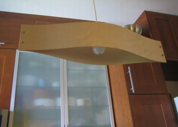 Long board pendent lamp