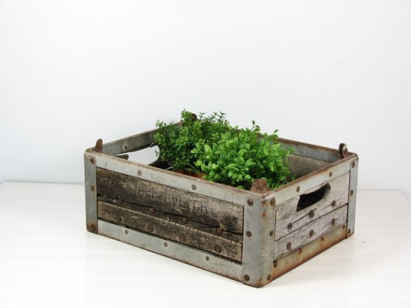 milk crate planter