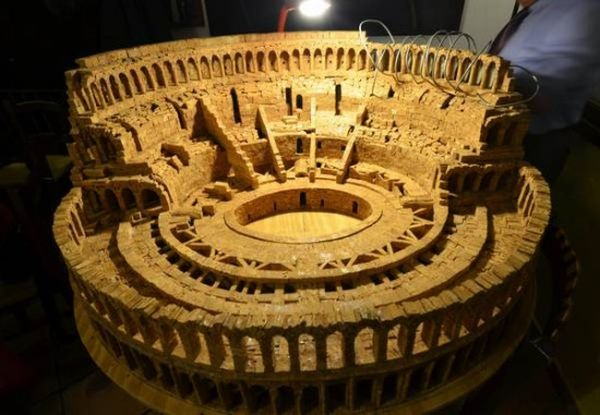 Miniature Colosseum from 10,000 Corks by Ciro Califano