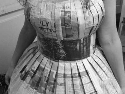 Newspaper Dress