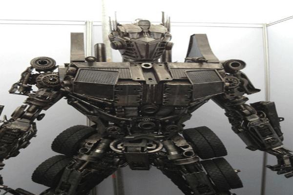 Optimus Prime Metal Sculpture