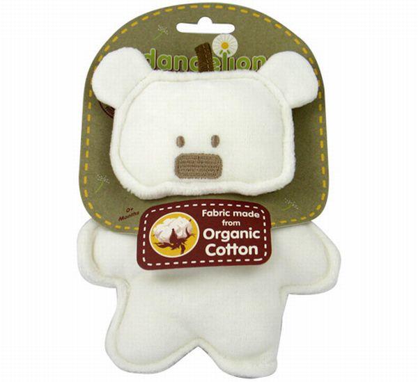 Organic toy crinkle bear