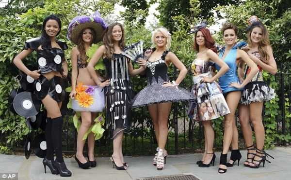 Outfits made from rubbish