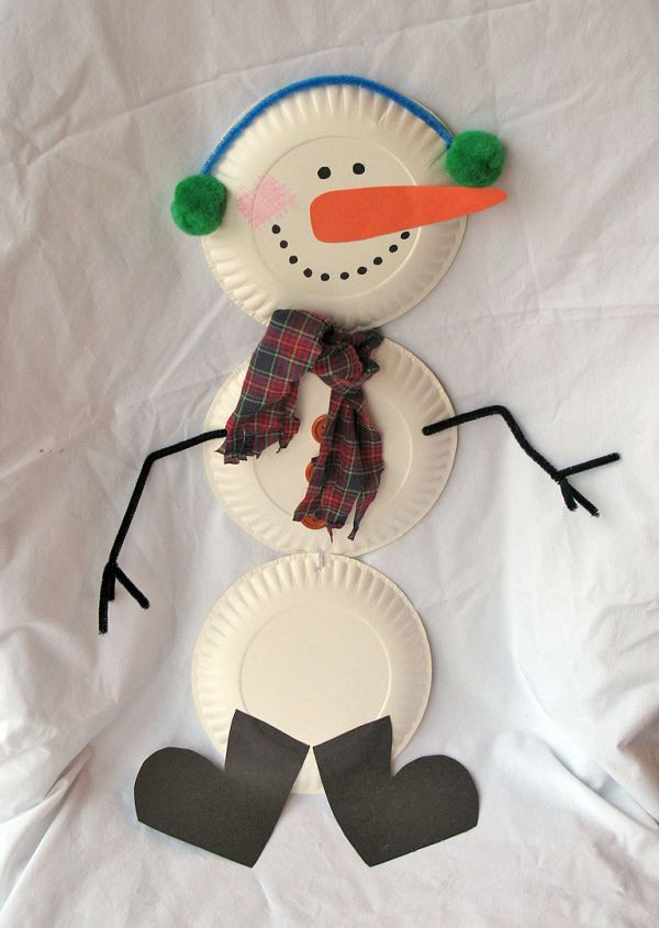paper snowman & Seven recycled paper plate projects for kids - Green Diary - Green ...