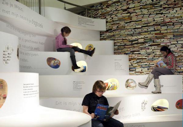 Papiria Upcycled Book Wall