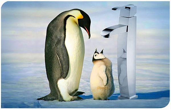 Penguin faucet