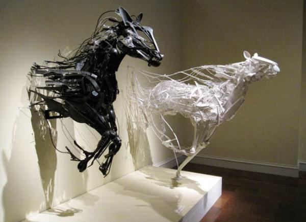 Plastic horse sculpture by Ganz