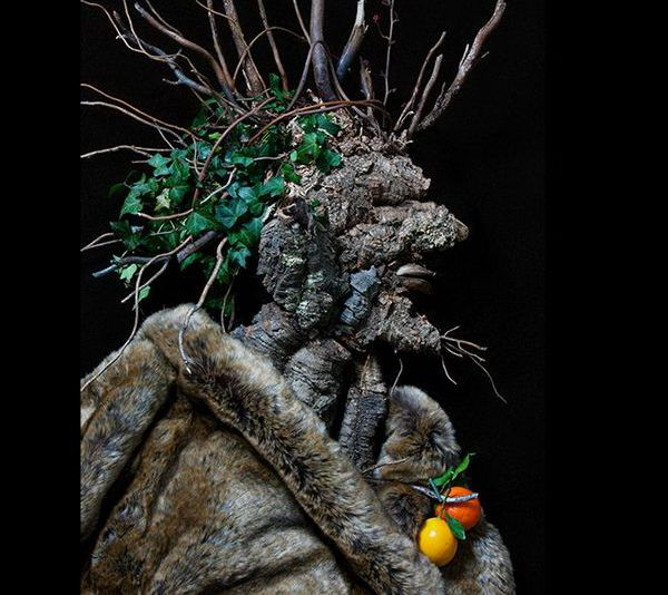 Portraits made of fruits, flowers and vegetable4