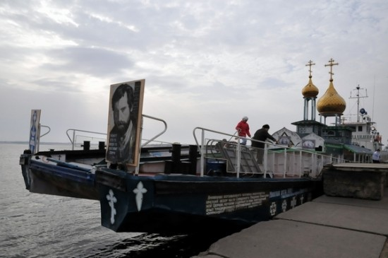 prince saint vladimir self propelled church boat 1