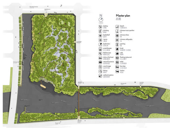 proposed wetlands to help qingpu to relive its gre