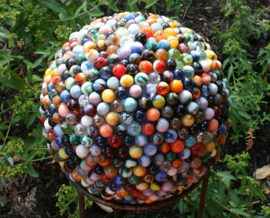 reclaimed marble garden ball1