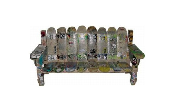 Recycle skateboards