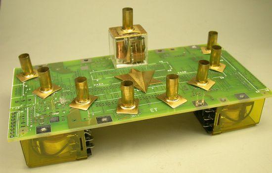 recycled circuit board hannukah menorah geekery 2