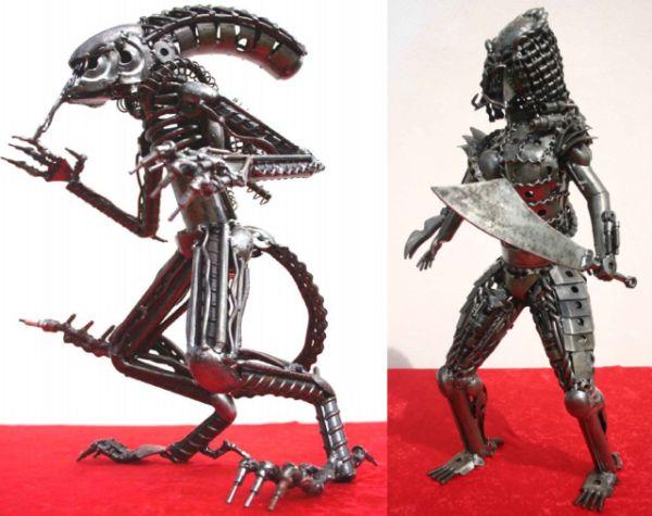 recycled metal art sculptures 1
