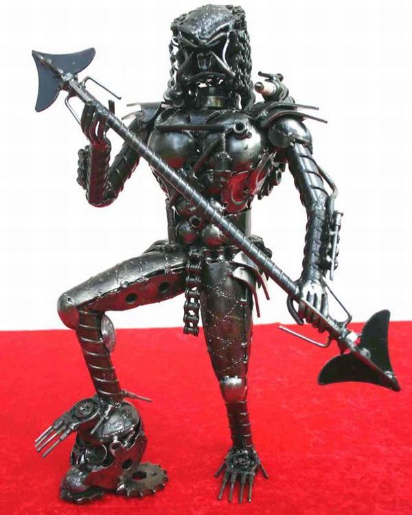 recycled metal art sculptures 2