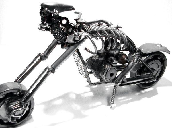 recycled metal skeleton motorcycle 2